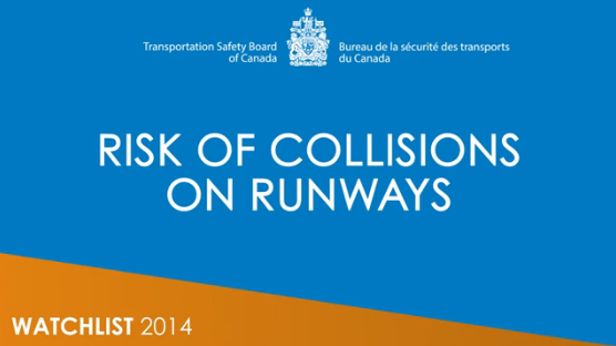 Watch the video about the risk of collisions on runways