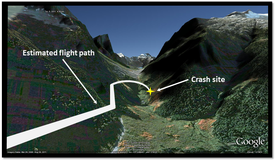 Transportation Safety Board Of Canada Aviation Investigation - Mountainous terrain aircraft accidents map us