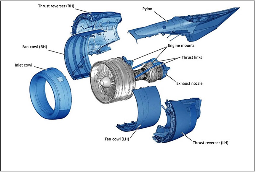 aviation investigation report a14q0068 transportation safety engine nacelles source pratt whitney