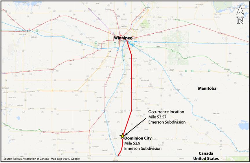 Railway Investigation Report R17W0175 - Transportation